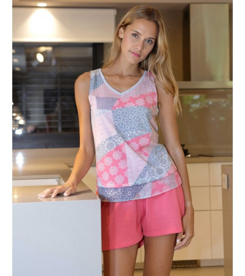 Sleeveless Women pajamas set Sleepwear Massana