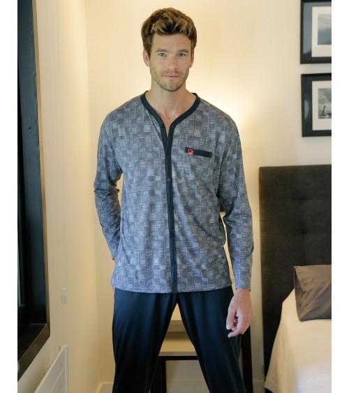 Pijama de Hombre Massana de Manga Larga Finito Abierto Apto para Hospital