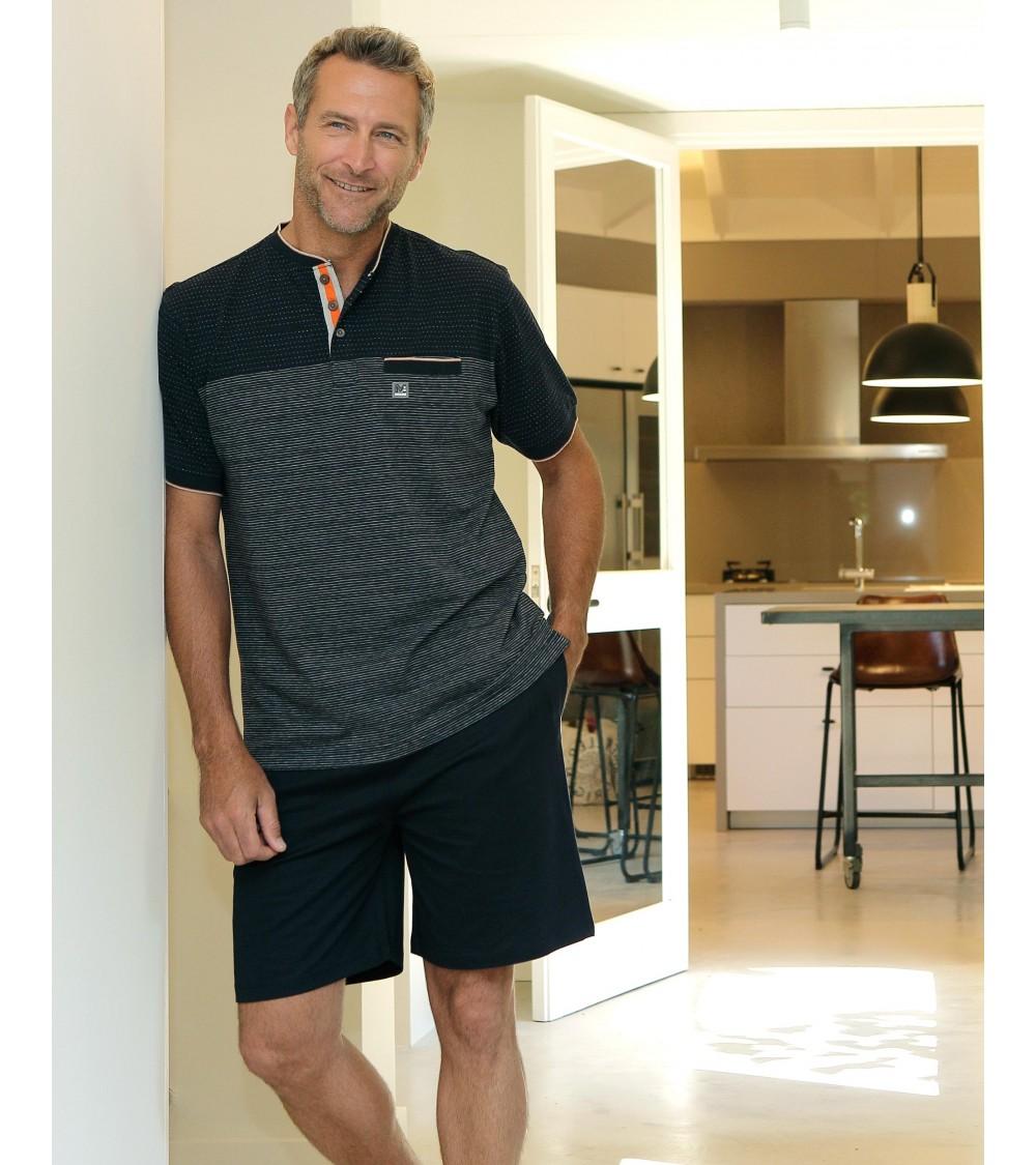 "Mens summer Pyjama Set MASSANA Pure Cotton ""Classic moto"""