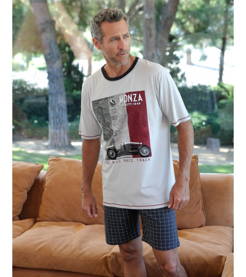 "Mens summer Pyjama Set MASSANA ""Classic car"""