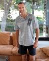 "Mens summer Pyjama Set MASSANA Pure Cotton ""Blue stripes"""