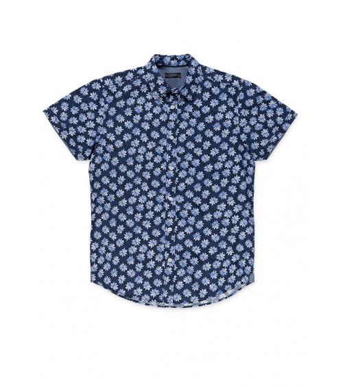 Blue floral print shirt by Losan