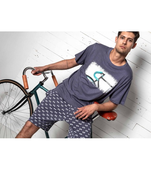 "Mens summer Pyjama Set Antonio Miro ""BICYCLES"""