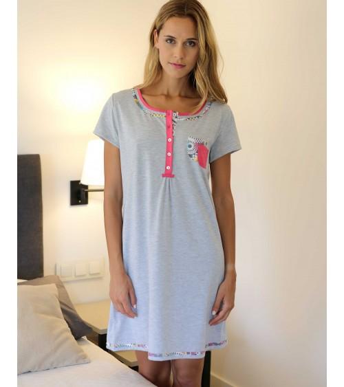 MASSANA Camisole Femme avec patte de boutonnage