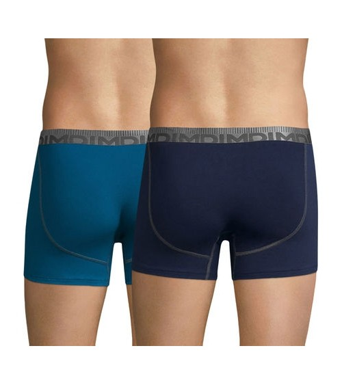 Men's 2-Pack Boxers DIM Cotton Trunks Comfy Underwear 3D FLEX AIR POWER
