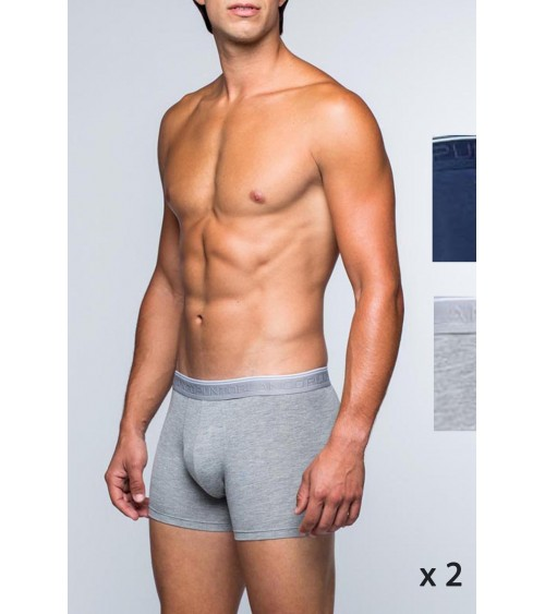 PACK 2 BOXERS BAMBOO PUNTO BLANCO