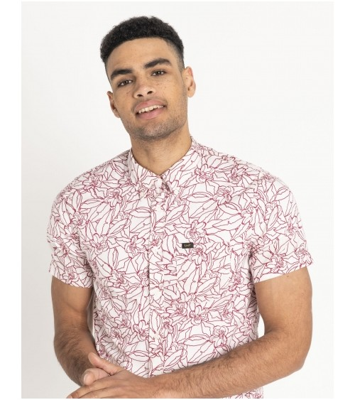 Lee Shirt Bordeaux Imprimé