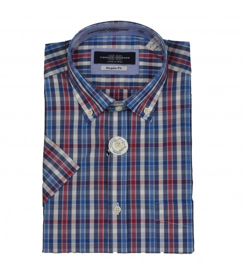 Camisa de Hombre Carlos Cordoba Manga Corta Cuadros