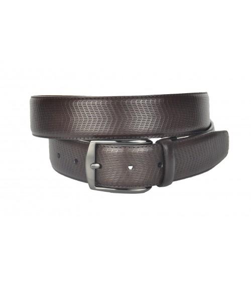Cinturón de Hombre de Piel Possum Grabado