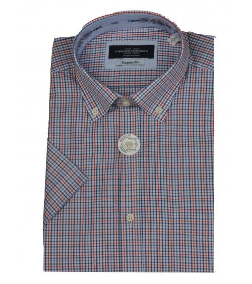 Camisa de Hombre Carlos Cordoba Manga Corta Cuadros Multicolor
