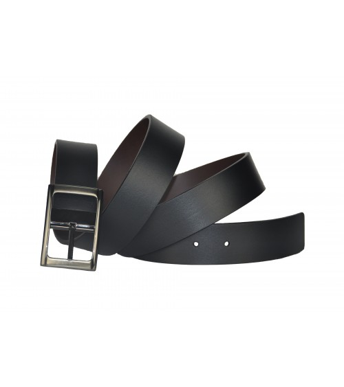 Cinturon Piel Hombre REVERSIBLE POSSUM Negro/Marrón