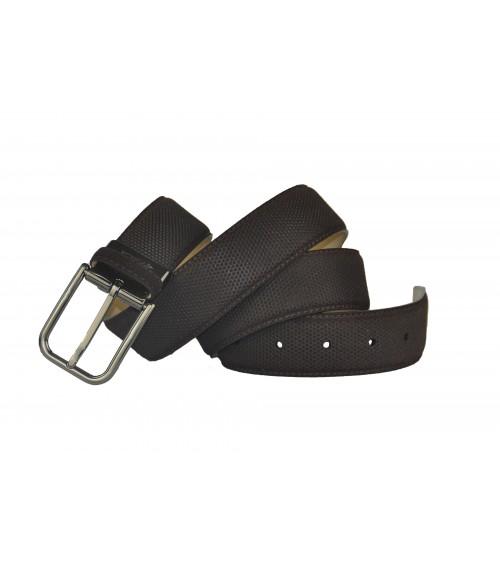 Cinturón de Hombre de Piel para Vestir Possum Punteado Marrón