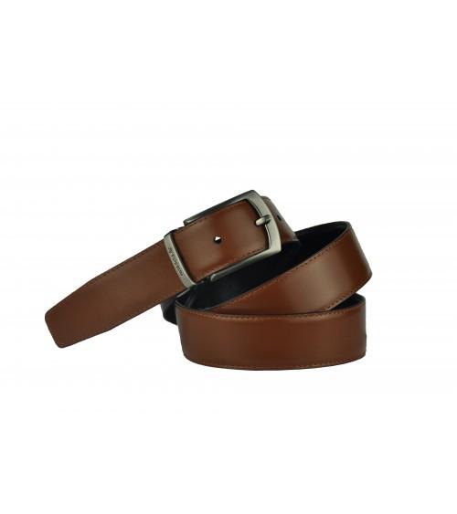 Cinturon Piel REVERSIBLE POSSUM Negro/Cuero