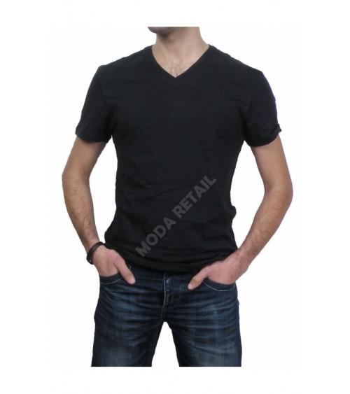 Mens White Undershirts Unno Cotton V Neck