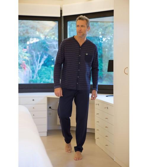 Pijama de Hombre de Invierno Massana Abierto con Botones