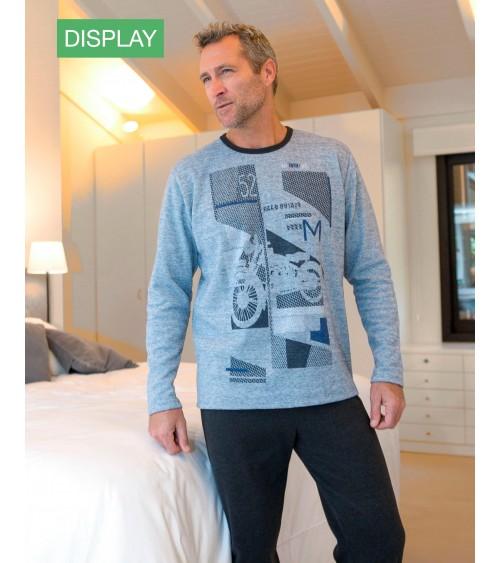 "Pijama de Hombre de Invierno Massana ""Motocicleta 52"" Tejido grueso"