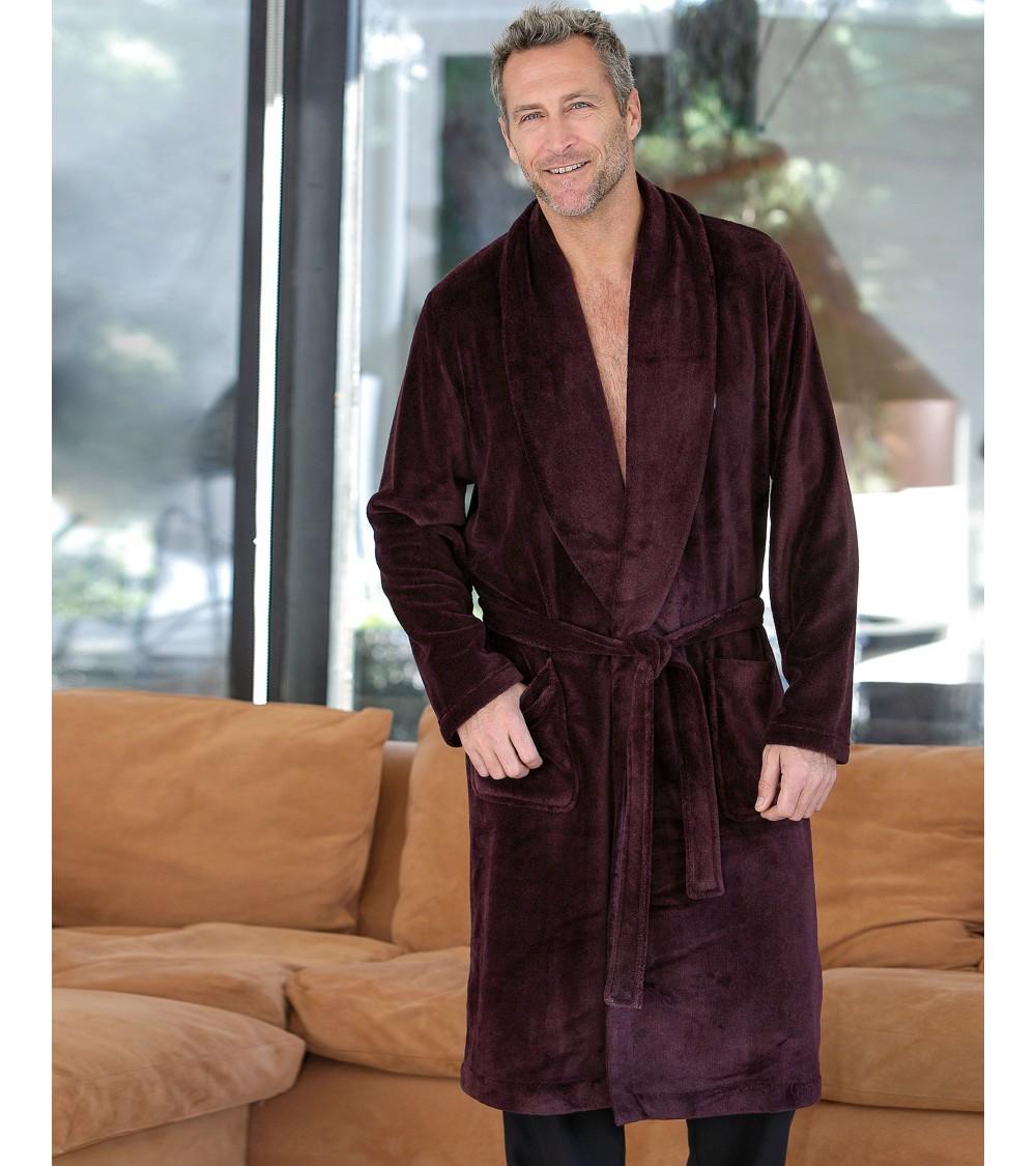 Mens velvet Dressing Gown MASSNA Nightwear
