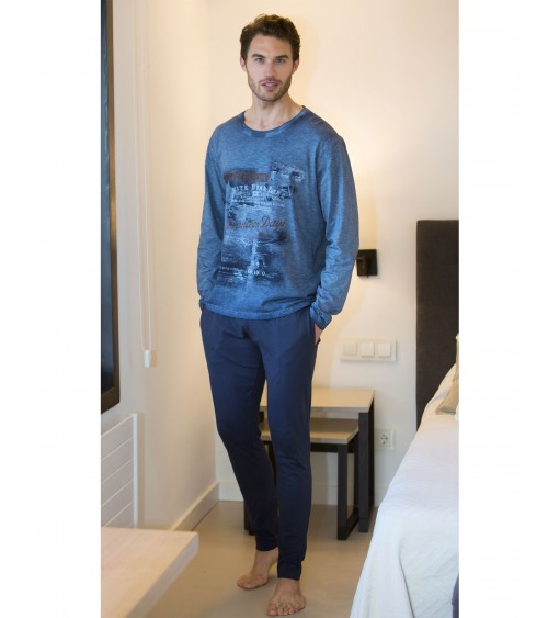 "Winter 100% Cotton Pajamas Sets Men MASSANA ""WILD LIFE"""
