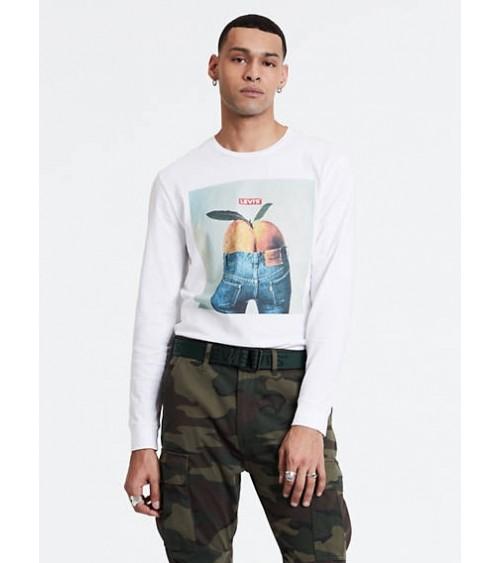 Camiseta de Hombre Levis de Manga Larga Serigrafiada