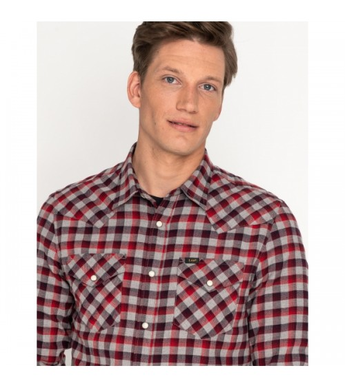 Camisa Lee Western de Cuadros Slim Fit
