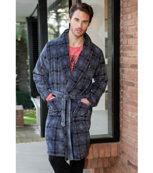 Mens velvet Dressing Gown MASSANA Nightwear