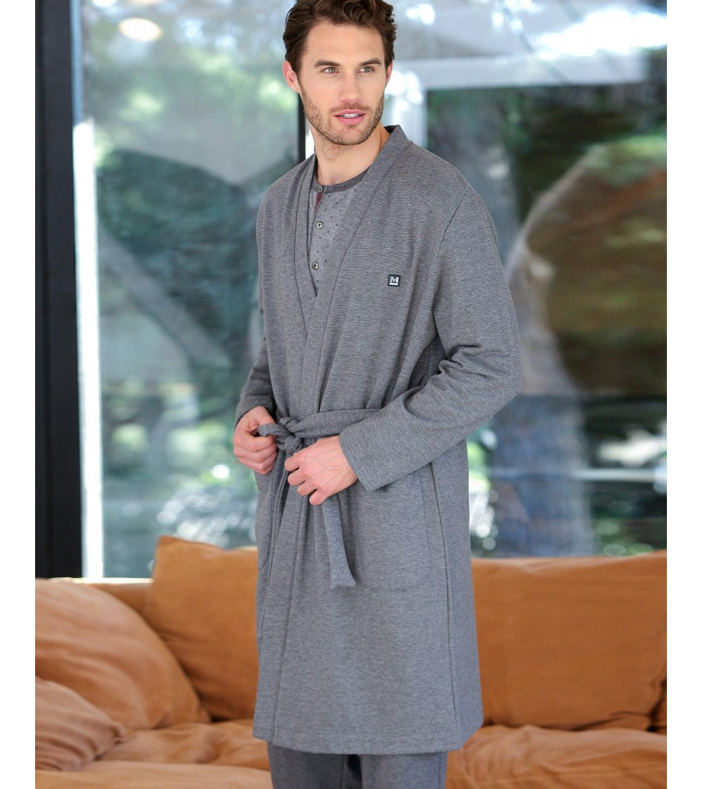 Men's fine dressing gown for winter MASSANA