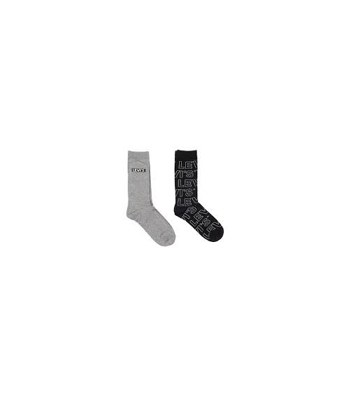 Pack 2 Levis Socks Letter Outline