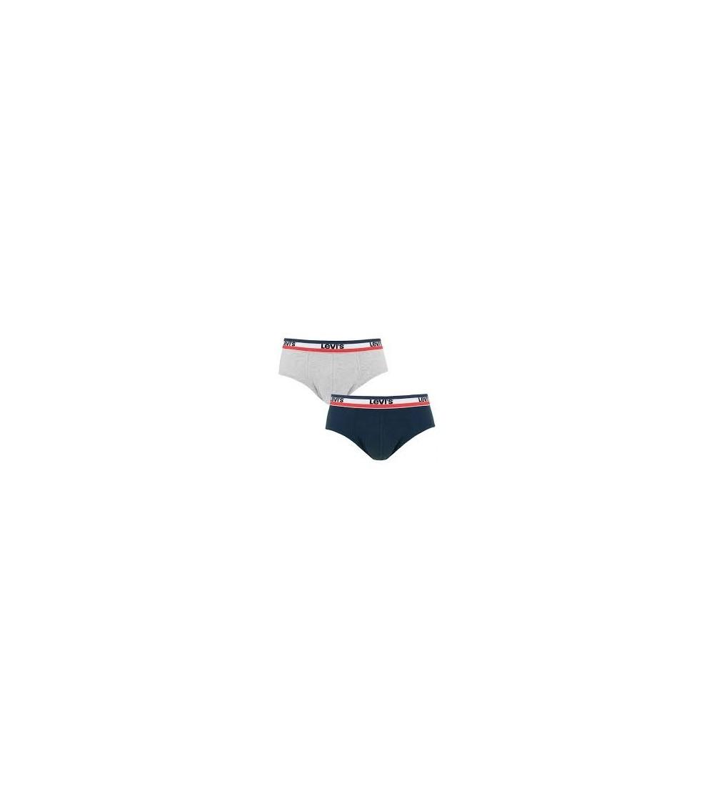 Pack x2 Calzoncillos LEVI´S SLIP Algodón Elástico