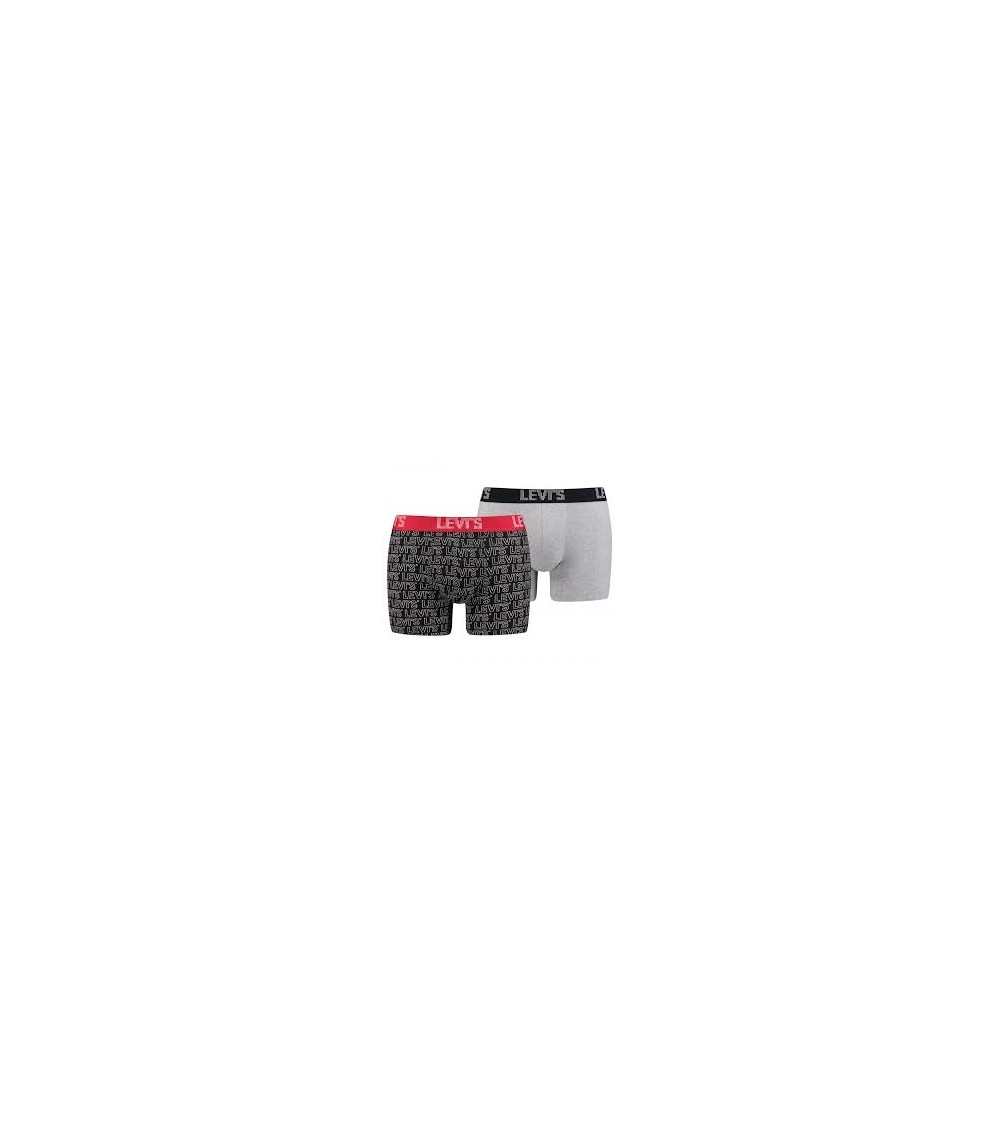 LEVI'S Men's Optical Zigzag Boxer Brief 2 Pack