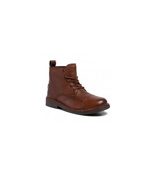 LEVI'S Mens Leather Brown Boots Track