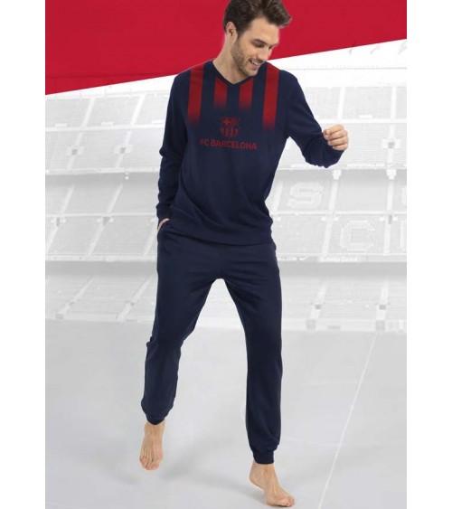 Pijama de Hombre de Manga Larga F.C.BARCELONA 100% Algodón Pijama Barça