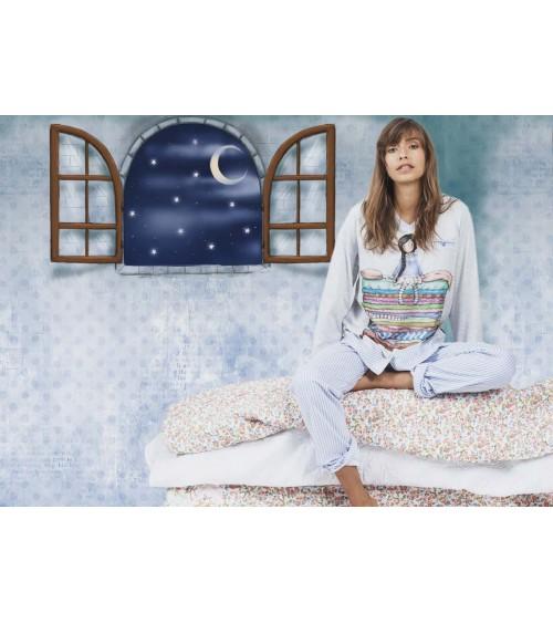 Pijama de Mujer de Manga Larga Santoro London Gorjuss 100% Algodón Pijama Muñequita