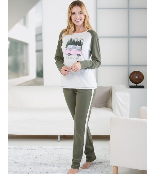 "Women Massana Winter Pajamas ""Adventure awaits us"""