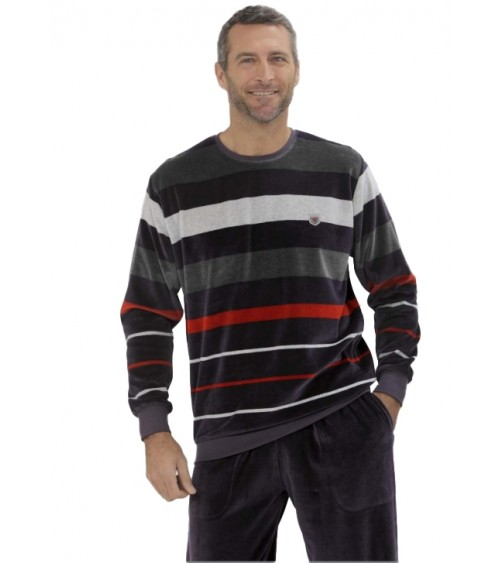 Winter Pajamas Sets Men with cuffs MASSANA Top Quality Sleepwear