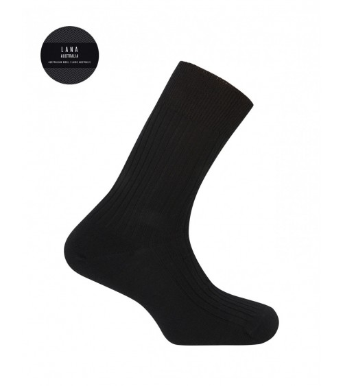 Mens 100% Merino Wool Ribbed Socks Punto Blanco