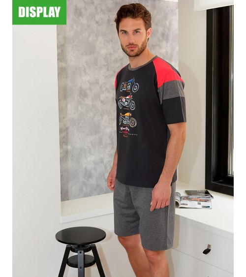 Motorcycle short sleeve pajamas Massana