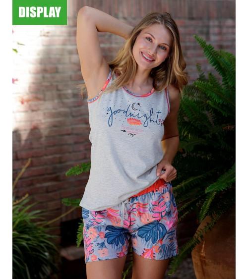 Pyjama d'été sans manches vêtements de nuit pour femmes Massana GOOD NIGHT