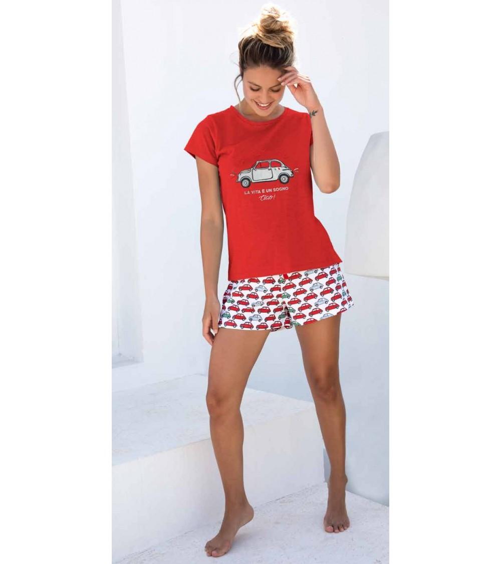 Admas straps pajamas with retro motifs