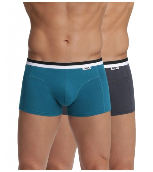 Pack 2 Men Underwear DIM UNNO Boxer Brief Cotton