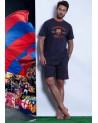 Pijama hombre de manga corta F.C.BARCELONA 100% Algodón