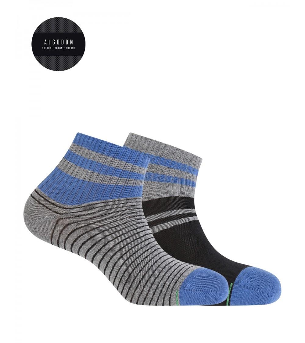Punto Blanco Sport cotton socks- stripes pack 2