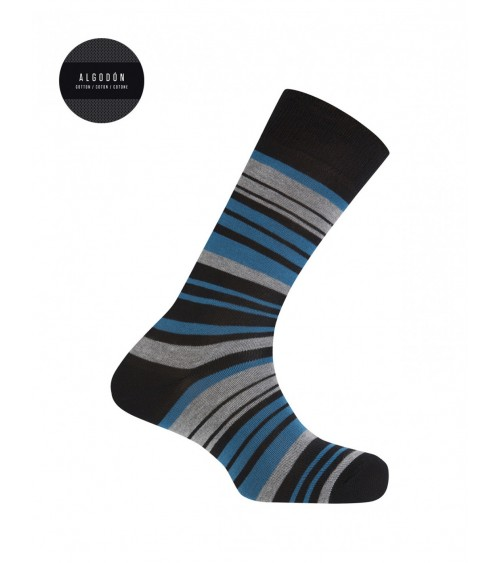 Punto Blanco cotton socks - wide stripes