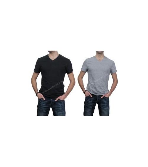 Camiseta levi's manga corta PACK 2 CAMISETAS Hombre SLIM FIT Cuello pico V