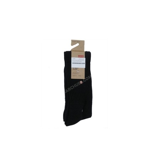 LEVI´S Mens Pack 2 Black Crew Cotton Socks Winter