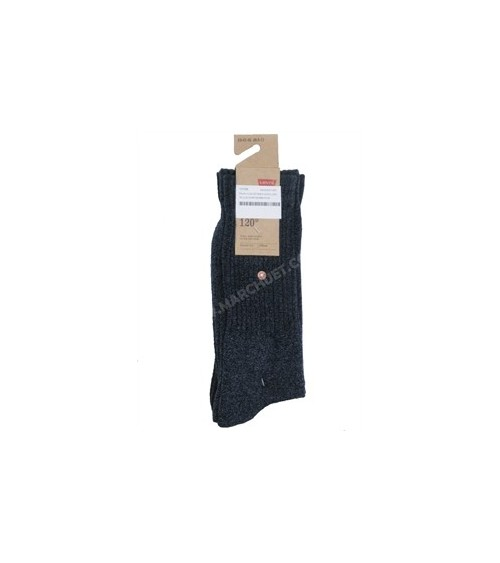 PACK 2 CALCETINES LEVI'S LISOS 120SF (negros)