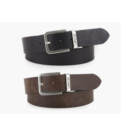 LEVI´S Leather Belt REVERSING Top Quality Male Black and Brown