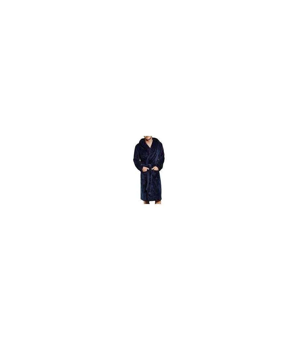 Mens Velvet Dressing Gown MASSANA Soft and Warm Winter Nightwear