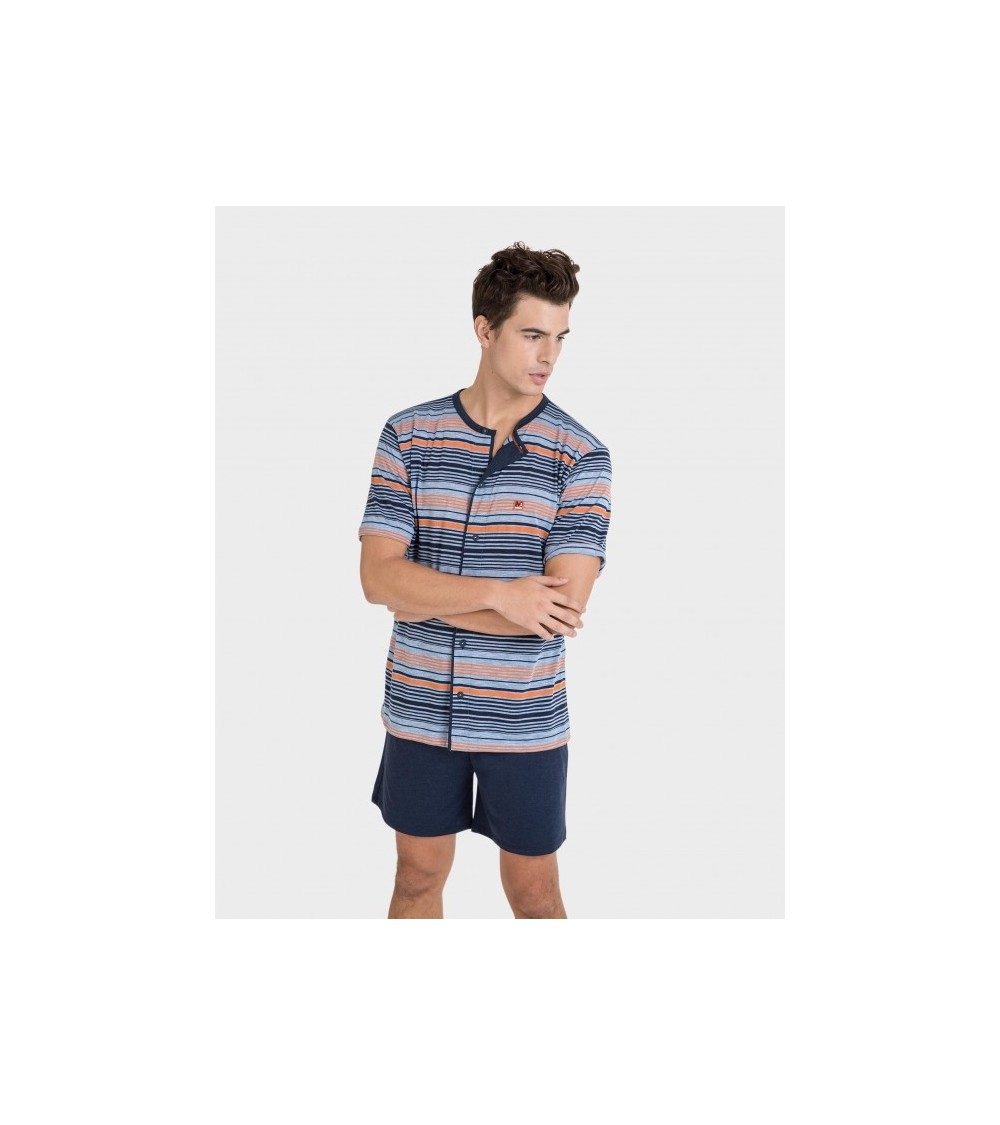 "MEN'S PAJAMA ""MASSANA"" OPEN SHORT SLEEVE"