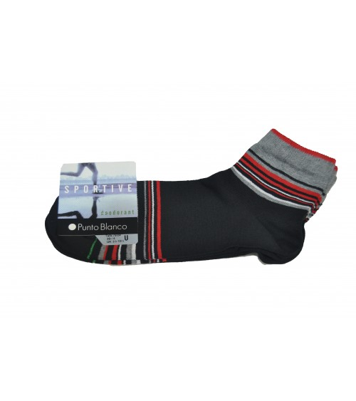 Punto Blanco Sport cotton socks- stripes pack 2
