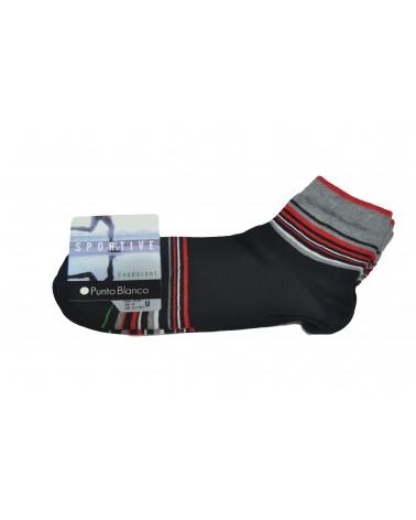 Pack 2 Calcetines Punto Blanco de algodón deportivos - rayas